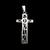 Vintage Estate Sterling Silver Religious Cross Pendant 2.6g E919