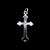 Vintage Estate Sterling Silver Religious Cross Pendant 1.2g E886