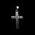 Vintage Estate Sterling Silver Religious Cross Pendant 1.6g E877