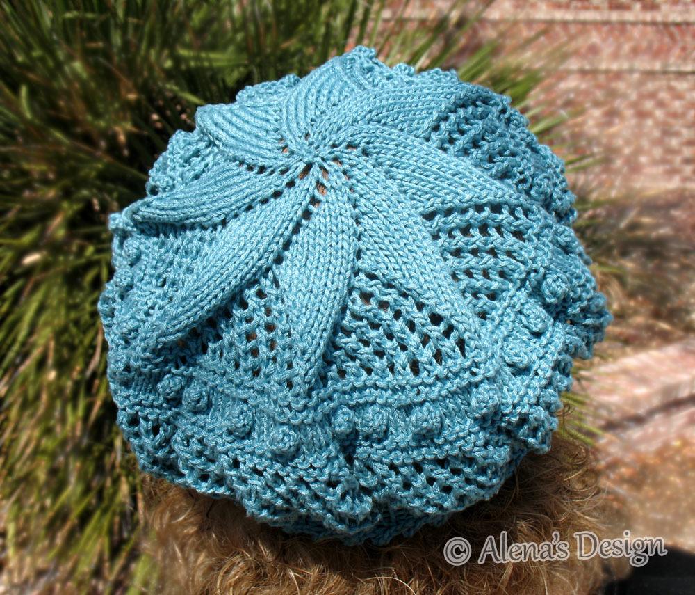Free Knitting Pattern 187 Lace Beret Knitting by ...