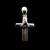 Vintage Estate Sterling Silver Religious Cross Pendant 3.7g E705