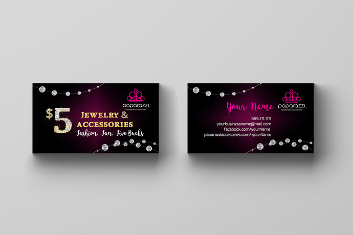 Paparazzi Accessories Business Card- Diamonds 1