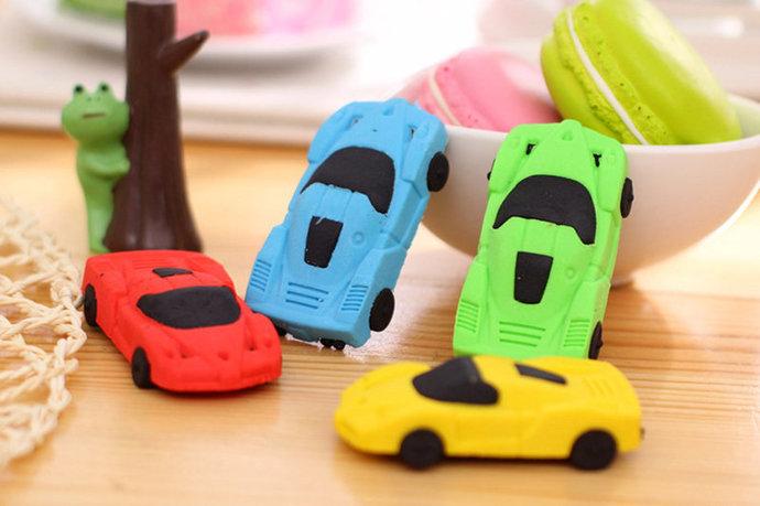 Eraser shaped car