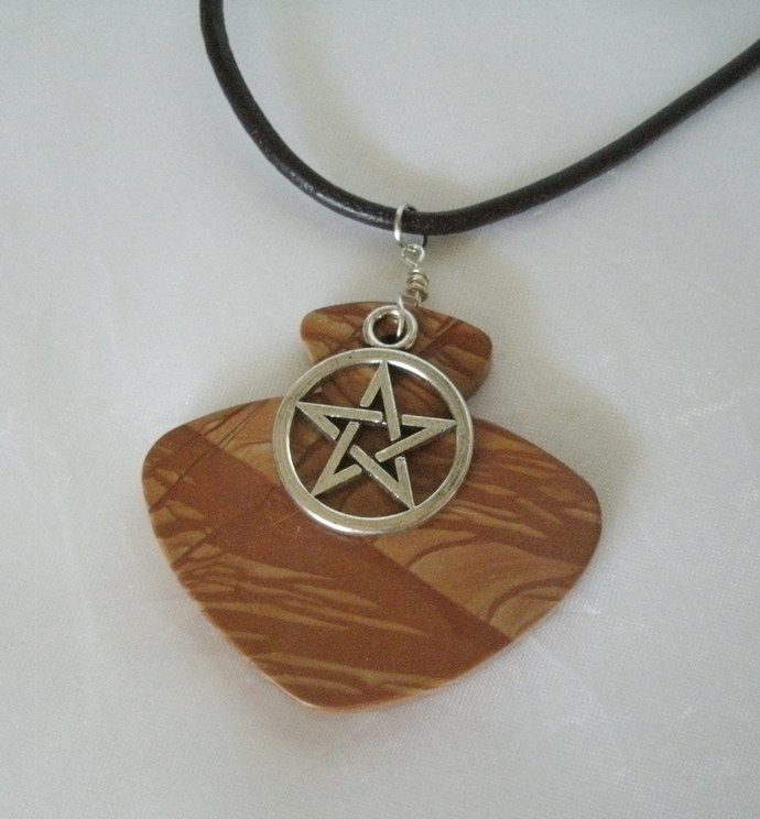 Jasper Pentacle Necklace