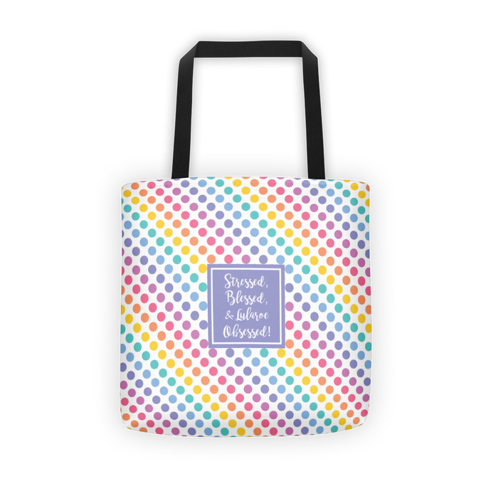 Stressed, blessed, and Lularoe obssesed Tote Bag -1