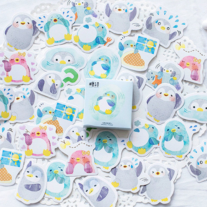 Stickers adorable penguin