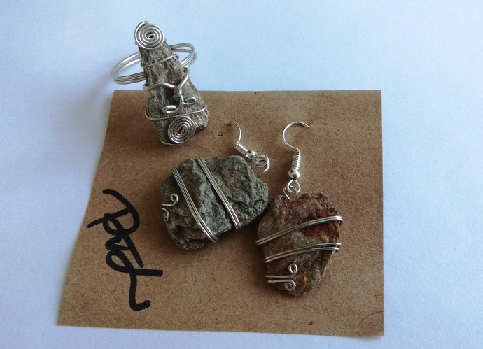 The Gift From The Elfs, Set Of Jewelry - Ring And Earrings