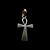 Vintage Estate Sterling Silver Religious Cross Pendant 1.3g E759