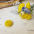 Yellow Chrysanthemum-Pom  Ear cuff