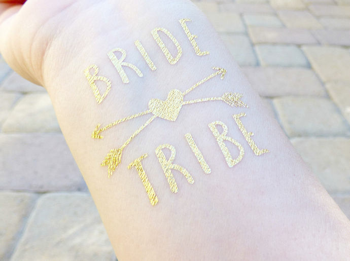 Bride Tribe Tattoo, Bachelorette Party Tattoo, Bridesmaid Gift, Hen Party