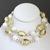 Vintage Porcelain Necklace - White & Cream Bead Flower Necklace