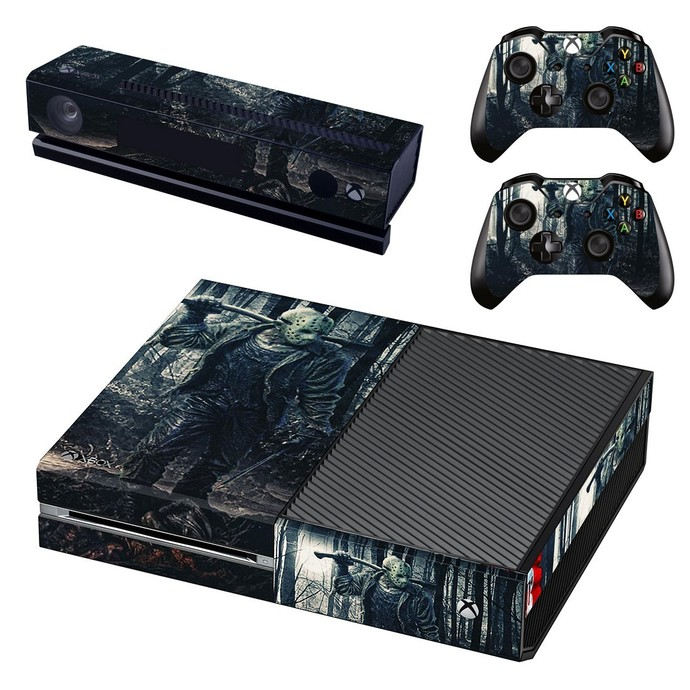 Friday the 13th decal skin for xbox one console and 2 controllers