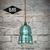 Glass Insulator Pendant Light - Aqua Blue LED Insulator Light - Vintage Bee Hive