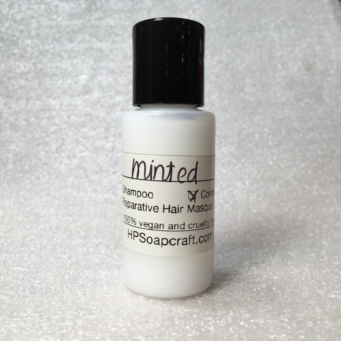 RTS Minted hair conditioner with sample travel size (compare to Dr Peppermint®)