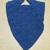 Shawl baktus, women's knitted shawl baktus, merino wool shawl, Blue shawl, READY