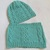Set women's green snood and hat, neck warmer, Spring Wrap, merino wool snood and