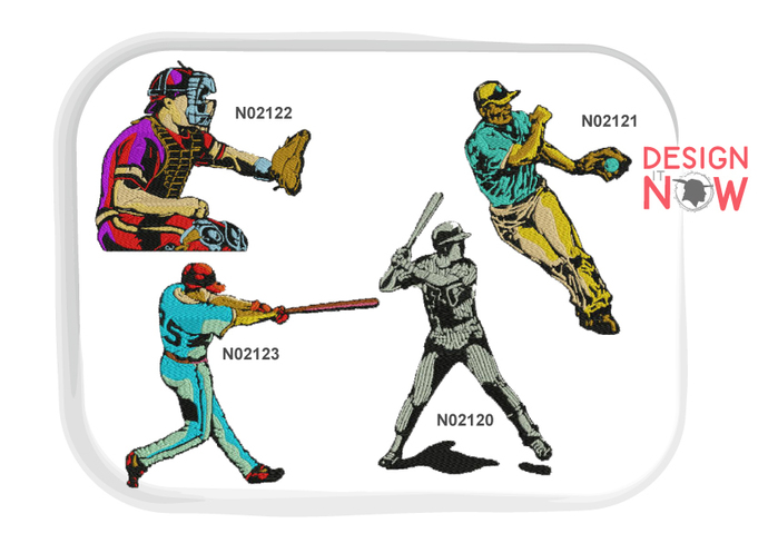 4 Designs - Baseball Machine Embroidery Design