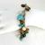 Vintage Cha Cha Bracelet - Signed Worthington Turquoise & Amber Bead Bracelet
