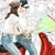 Watercolor fashion illustration - Friends in Rome - Light Skin