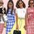 Watercolour fashion illustration clipart - Girls in Gingham - Dark Skin