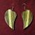 Striped Heart Earrings