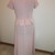 Dusty Rose VIntage Linen formal gown, mothers gown, concert gown, faux 2 pc