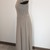 Vintage formal, taupe , beaded, gown, chiffon, illusion top, cap sleeves,