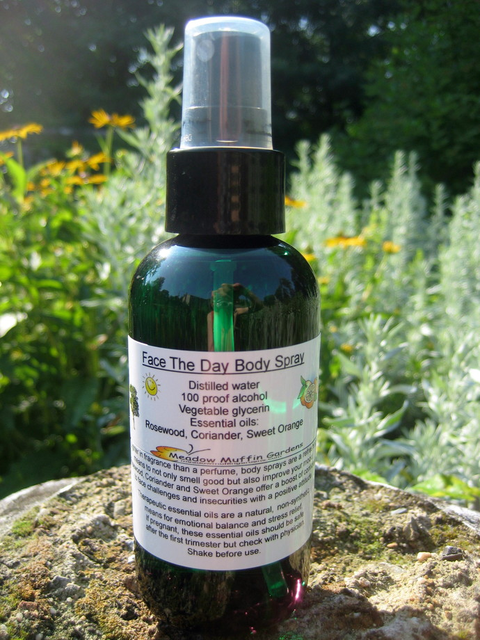 Face The Day Body Spray, Confidence Boost, Rosewood, Coriander, Orange