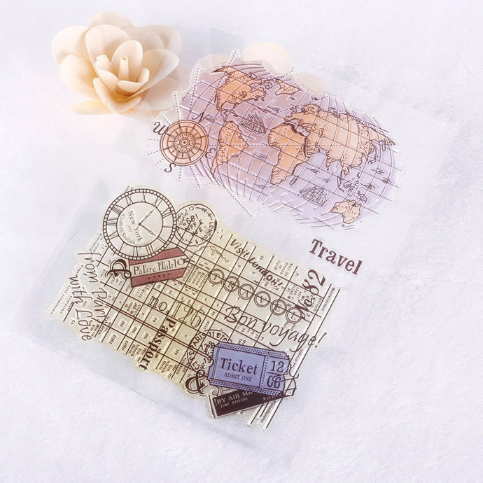 """Clear stamps """"Travel's"""""""