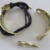 Hammered bracelet gold tone cuff and toggle