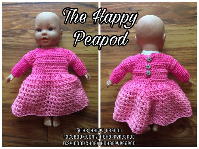 Doll Dress FREE Crochet Pattern