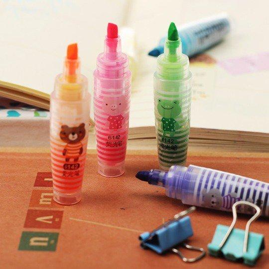 Highlighters pen lovely mini animals