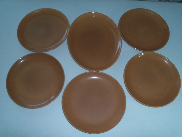 Iroquois Casual Apricot Russel Wright 5 Dinner Plates & Platter