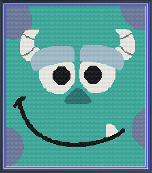 Monsters Inc Sully Throw
