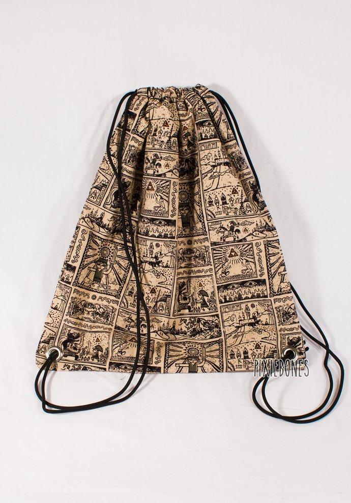 Legend of Zelda Print Drawstring Bag