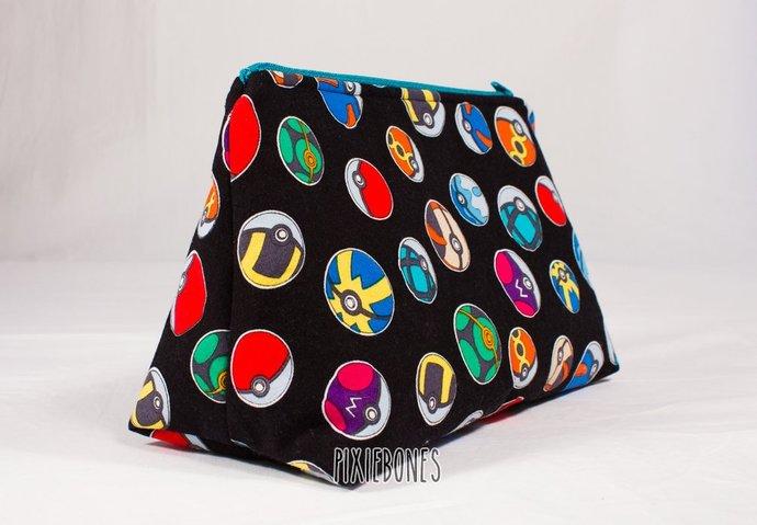Pokeball Cosmetic Bag - Ready to Ship!