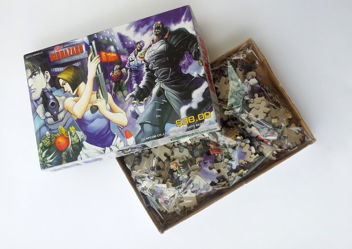 Hong Kong Comic BIOHAZARD Promo 500 Piece Jigsaw Puzzle (USED ONCE) - Capcom