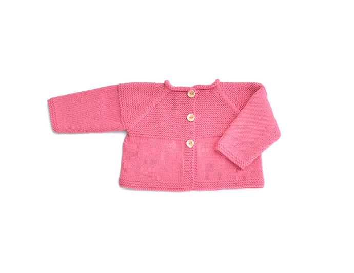 356fa0dd0d04 Pink Baby jacket. Knit baby cardigan. by handmadebabyandgifts on