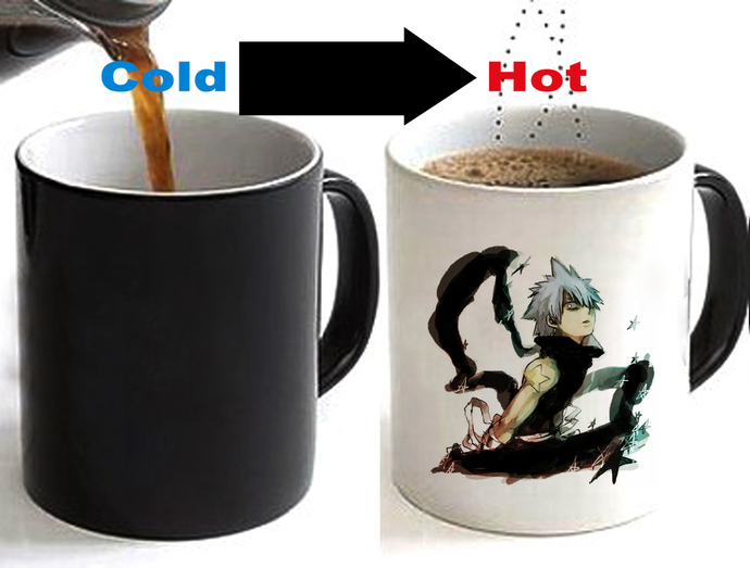 Soul Eater Black Star Color Changing Ceramic Coffee Mug CUP 11oz