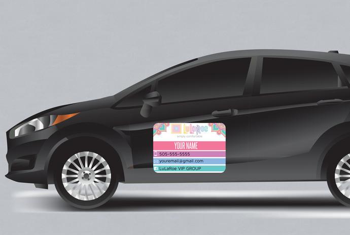 Lularoe Car magnet - 3 sizes- Custom magnet - Mandala