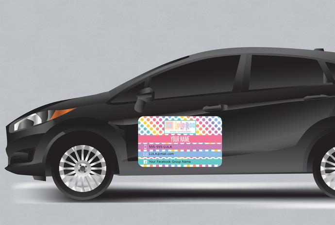 Lularoe Car magnet - 3 sizes- Custom magnet - Dots