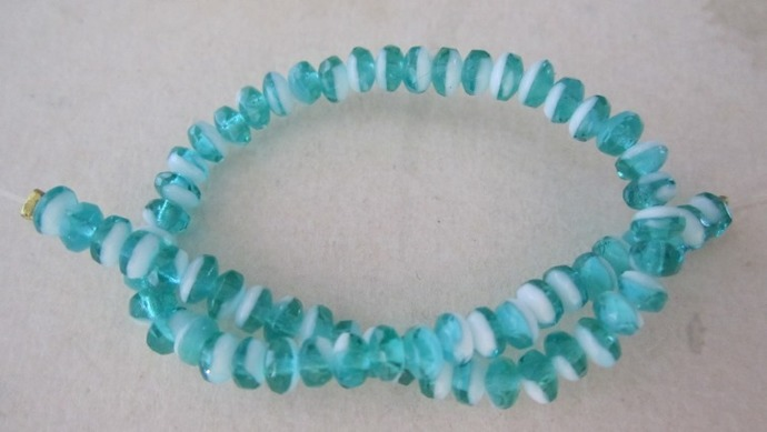Two Tone Fire-Polished Glass Beads