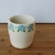 Handmade Ceramic Cup with Blue Roses