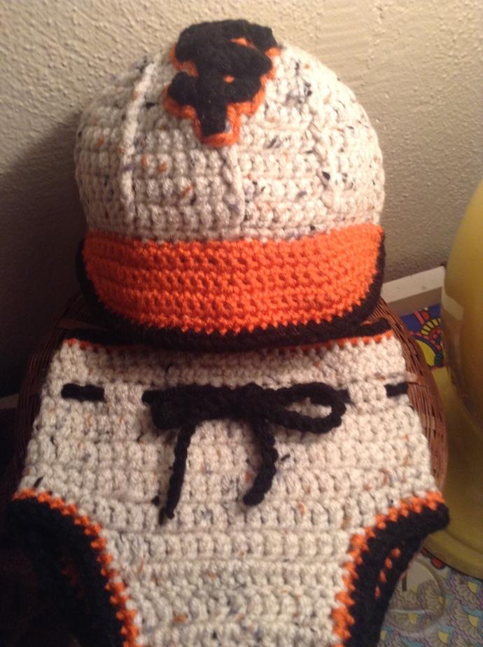 Handmade Crochet Baby Baseball Hat And Diaper By Jmdcrochet On Zibbet