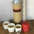 Vintage Glass Lined thermos 4 cups with cork stopper