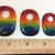 Glass Cabochon, Rectangular, Rainbow Focal Bead, LGBT Jewelry, Handmade, Gay