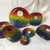 Glass Cabochon, Rectangular, Rainbow Focal Bead, LGBT Jewelry, Handmade, Gay