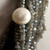 14 Strands 925 Sterling Silver Faceted Labadorite Fresh Water Pearl  Chain