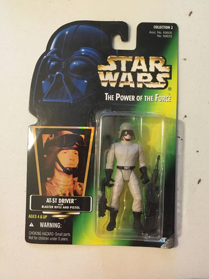AT-ST Driver Vintage Star Wars Action Figure on Green Card 3 3/4""