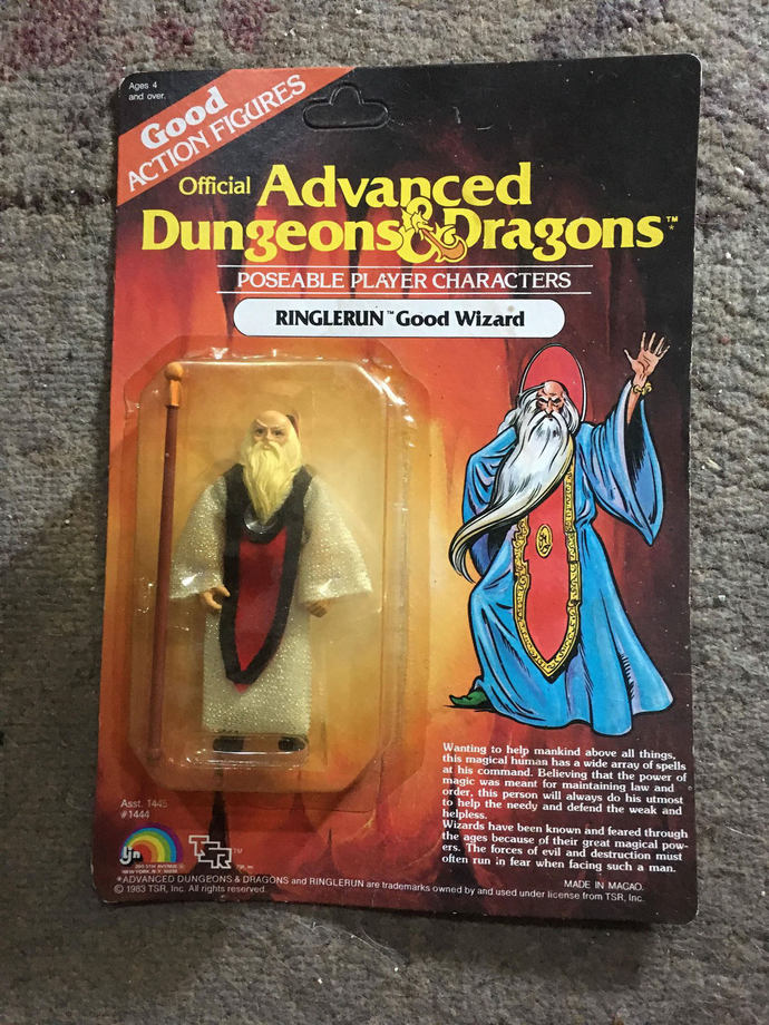 Ringlerun Good Wizard Advanced Dungeons & and Dragons Action Figure LJN Sealed